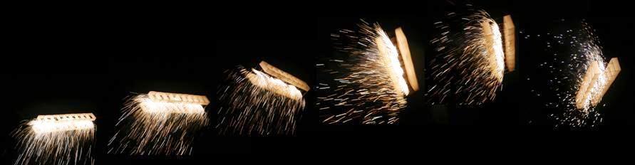 kastendrachen mit feuerwerk - flugstudie
