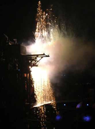 """ExtraSchicht, """"Feuerschlag um Mitternacht"""", TROMMELFEUERWERK, Schlag- und Feuerwerksperformance"""